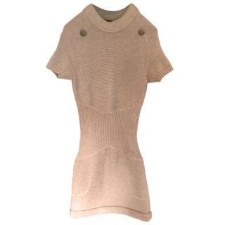 Chanel Grey Cashmere Knit Dress