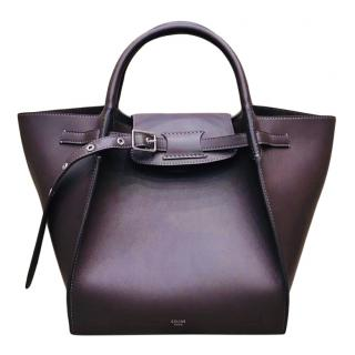 Celine Small Burgundy Calfskin Big Bag