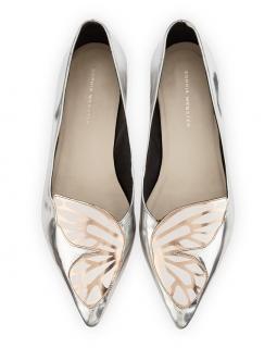 Sophia Webster Bibi Butterfly Silver Flats