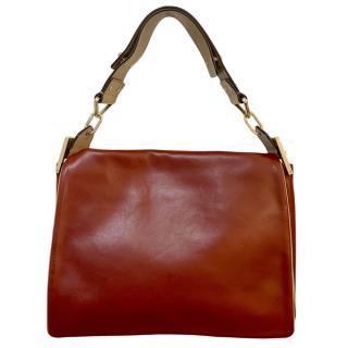 Chloe soft ruby leather shoulder bag