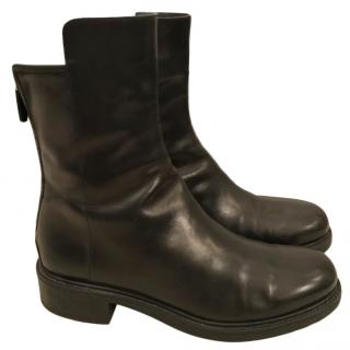 Gucci black leather combat boots