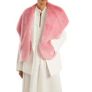 Shrimps Pink Angel Faux Fur Scarf