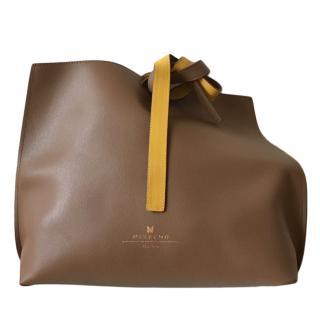 MaxMara camel and ochre soft leather bag