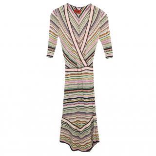 Missoni Striped Knit Fitted Shift Dress