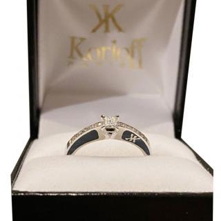 Korloff Diamond Solitaire Ring