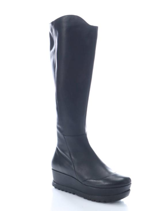 Camper Black Platform Boots