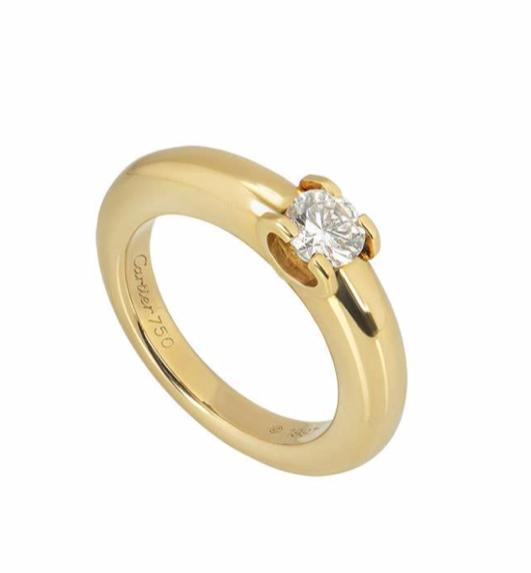 Cartier C De Cartier Yellow Gold Diamond Ring