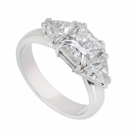 Bespoke Princess Cut Platinum Diamond Ring