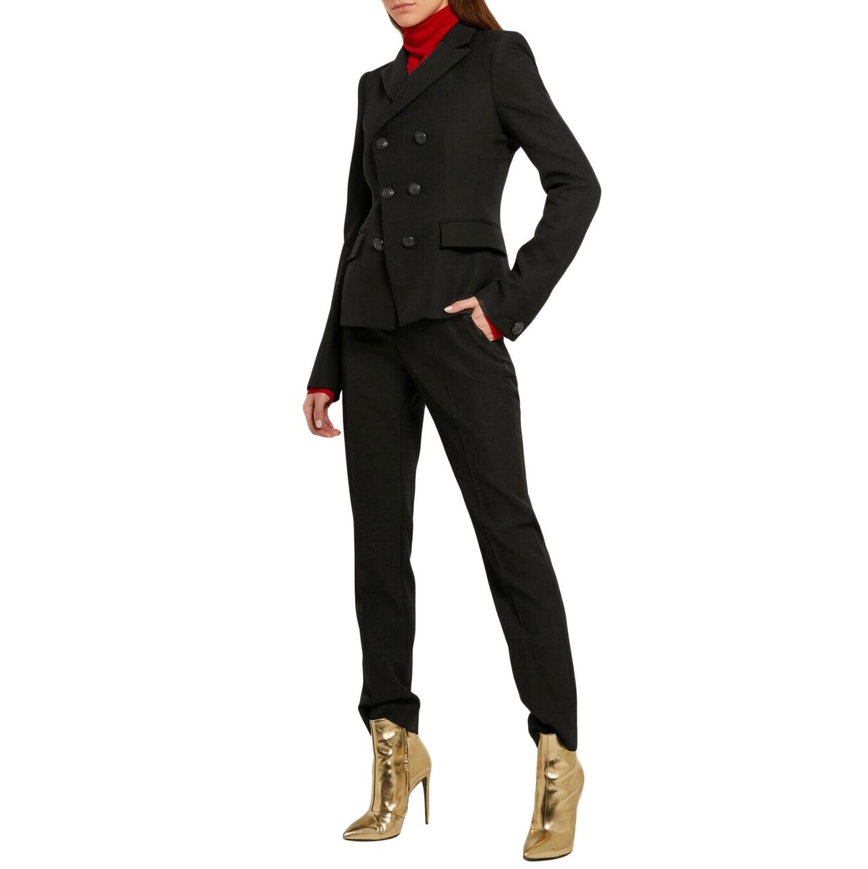 Balenciaga Black Double Breasted Hourglass Jacket