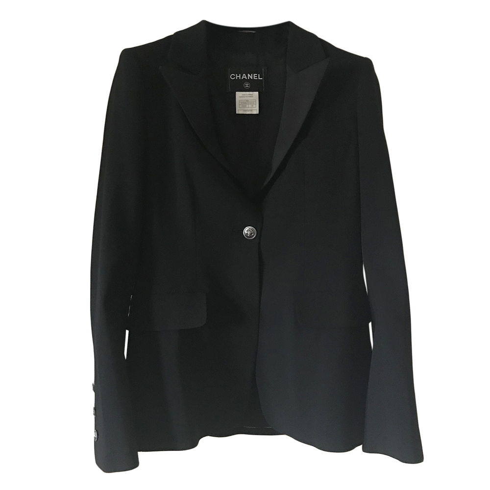 Chanel Black Tailored Fitted Jacket