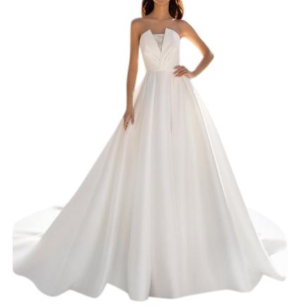 Pronovias ivory Mikado wedding dress