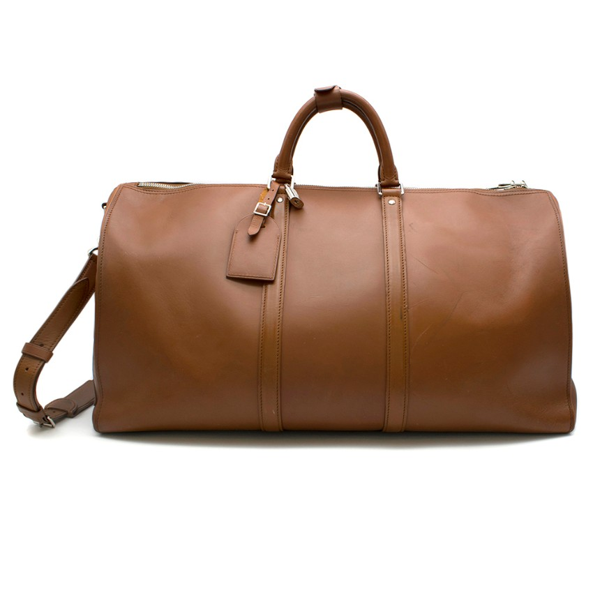 Louis Vuitton Large Travel Bag in Brown Leather