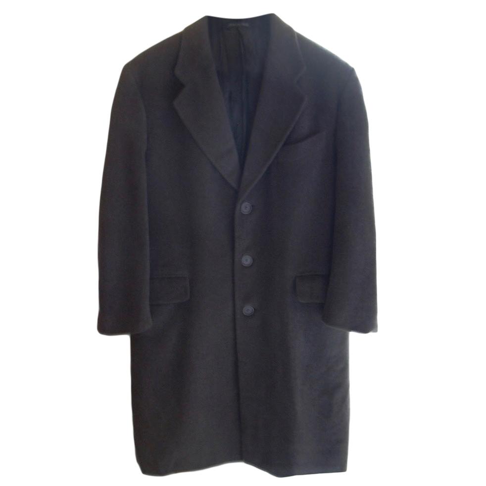 Armani Collezioni Khaki Men's Wool Overcoat
