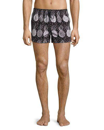 Dolce & Gabbana Pineapple Print Swim Shorts