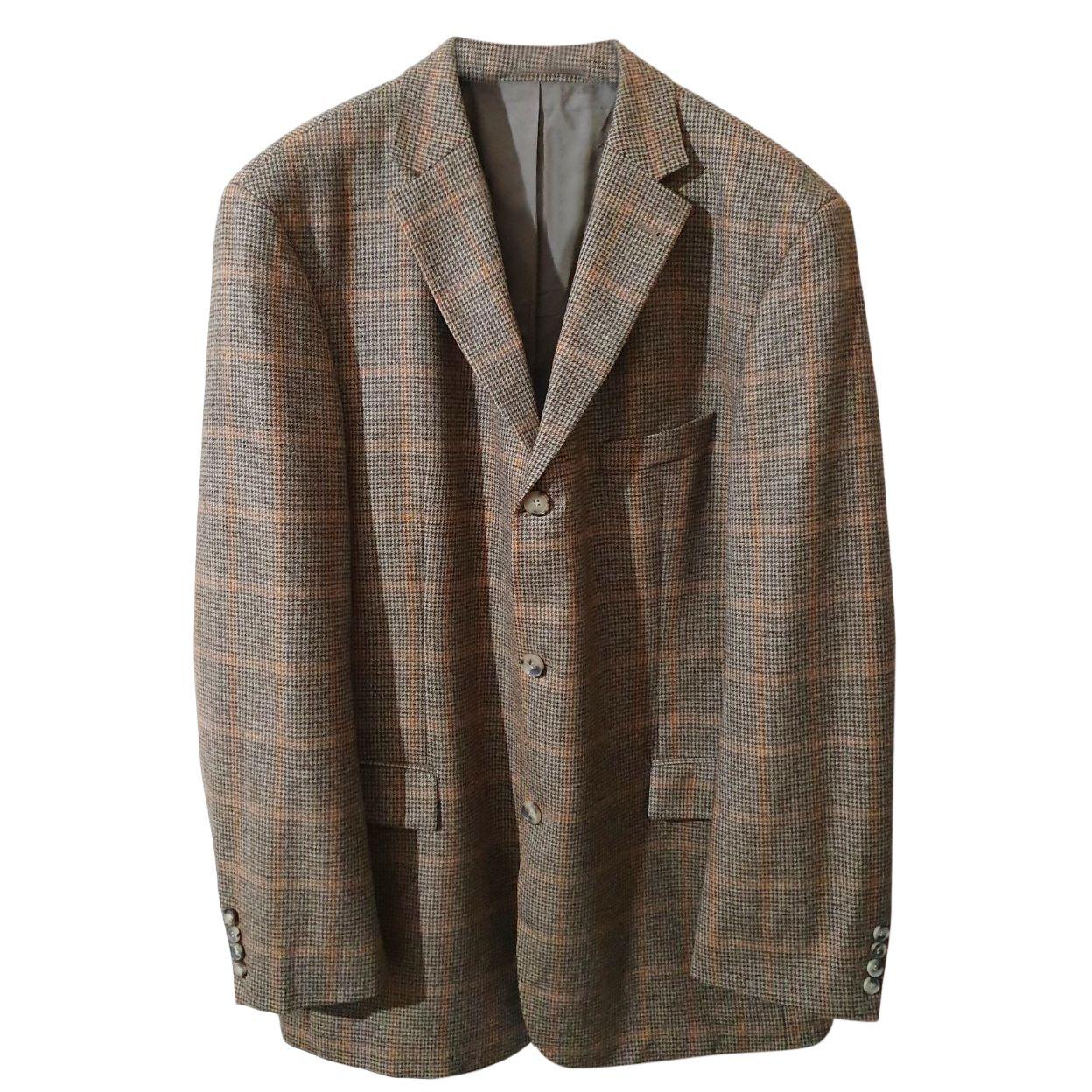 Boss Hugo Boss x Loro Piana tartan wool blazer