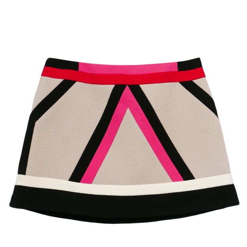 Louis VUitton Colorblock Mini Skirt