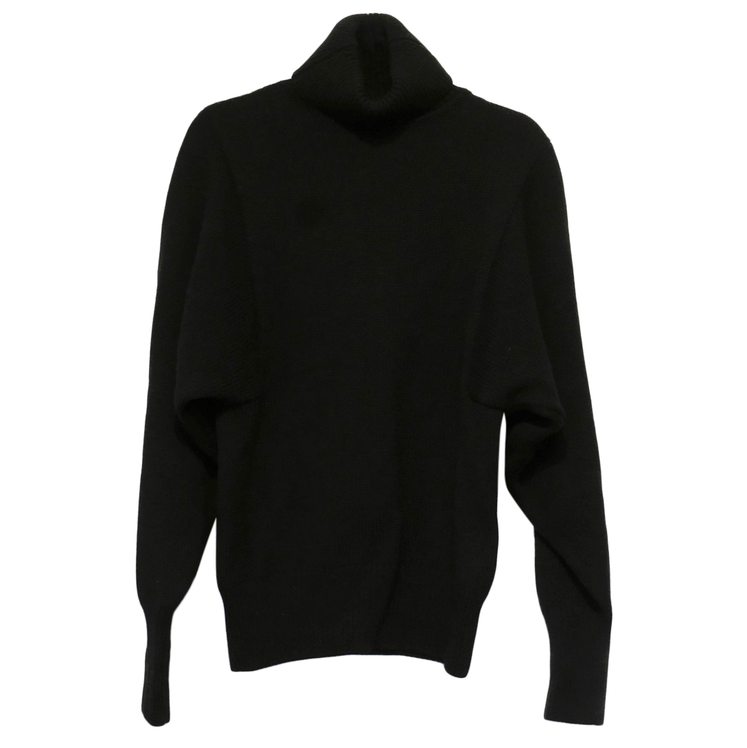 The Row Black Chunky Knit Rollneck Jumper