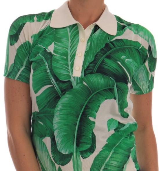 Dolce & Gabbana Banal Leaf polo shirt top