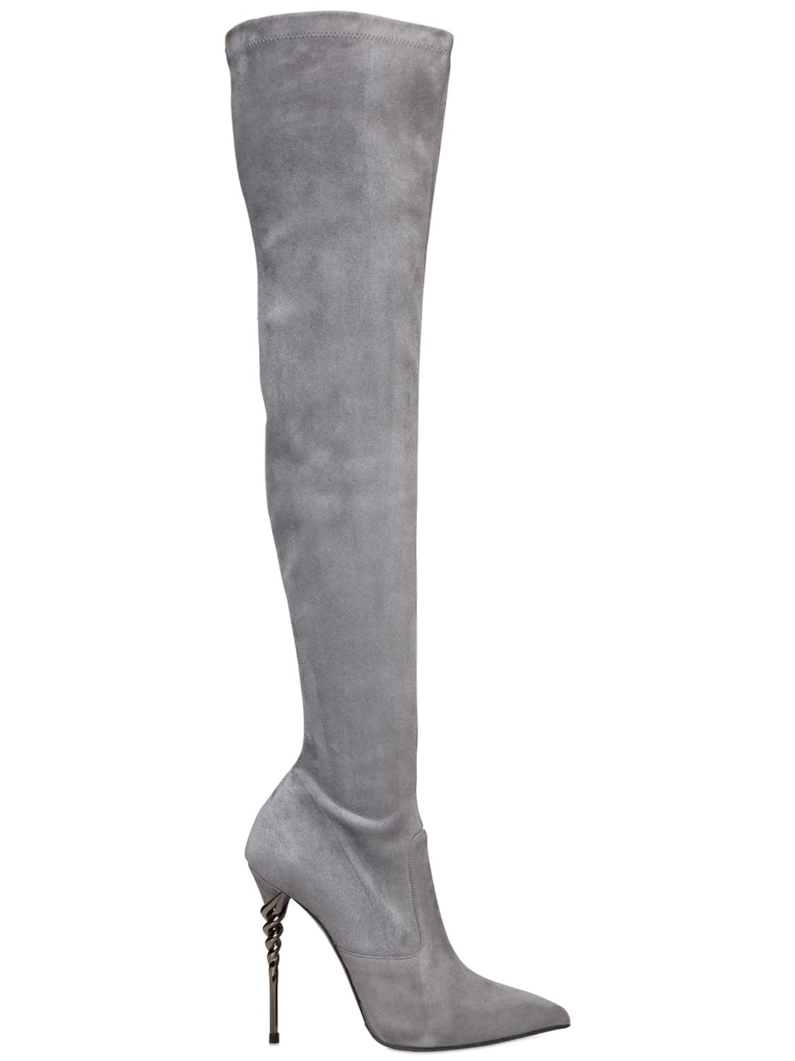 Le Silla 110Mm Torchon Stretch Suede over the knee Boots