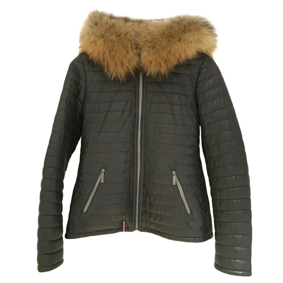 Oakwood Khaki Fur Trim Jacket