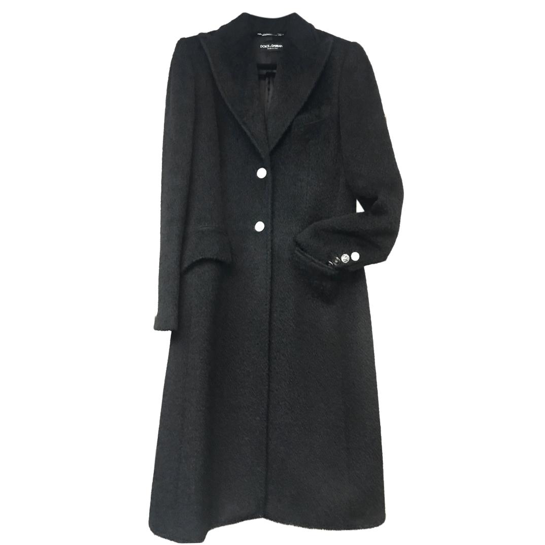 Dolce & Gabbana Mohair & Virgin Wool Blend Coat