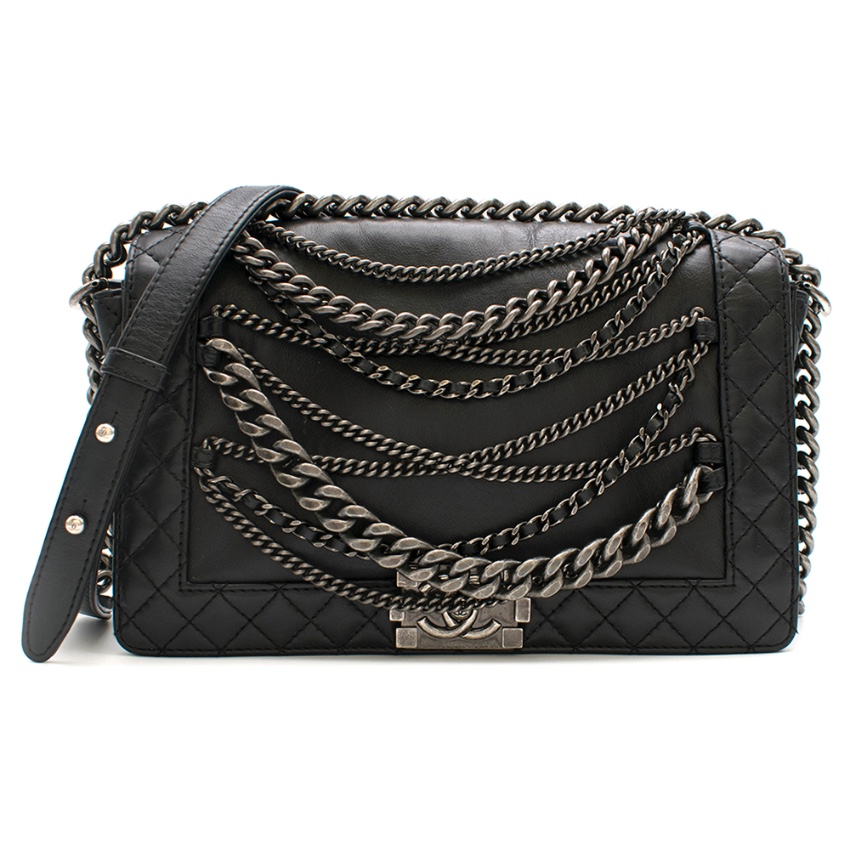 Chanel Black Boy Enchained Flap Bag