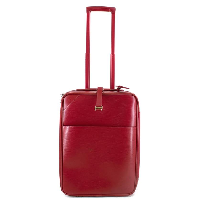 Louis Vuitton Pegase 55 Suitcase in Red Epi Leather