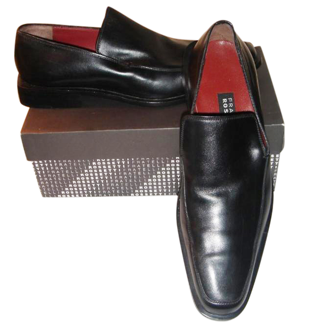 Fratelli Rossetti black leather loafers