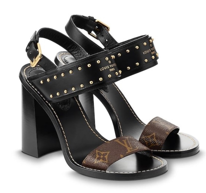 Louis Vuitton Monogram Studded Nomad Sandals
