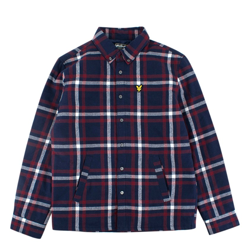 Lyle and Scott Striped Junior Quilted Shirt 10-11
