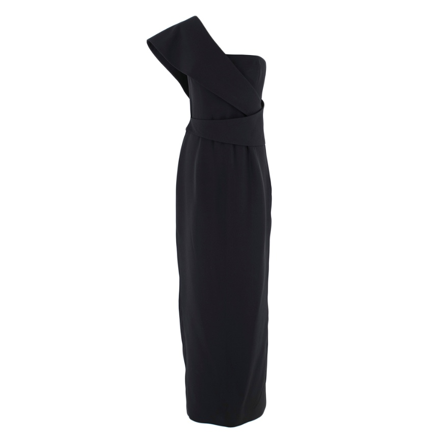 Ralph Lauren Collection One Shoulder Black Gown