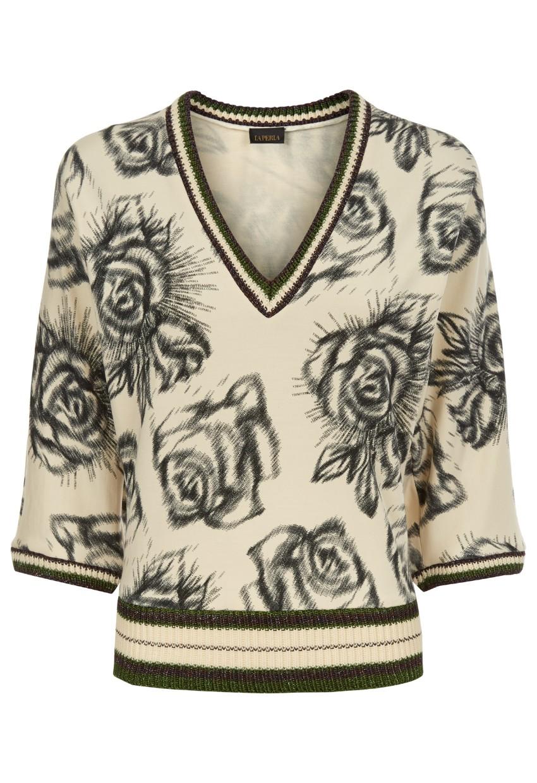 La Perla silk stretch floral top
