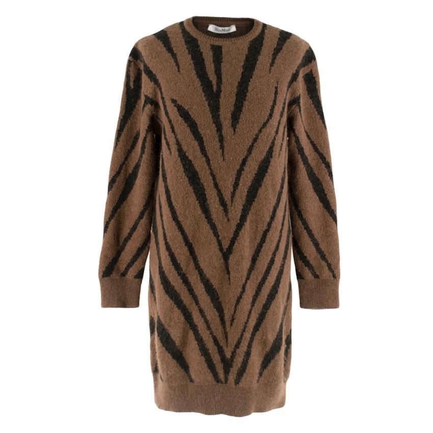 Max Mara oversized Animal-Print Mohair-Blend Sweater