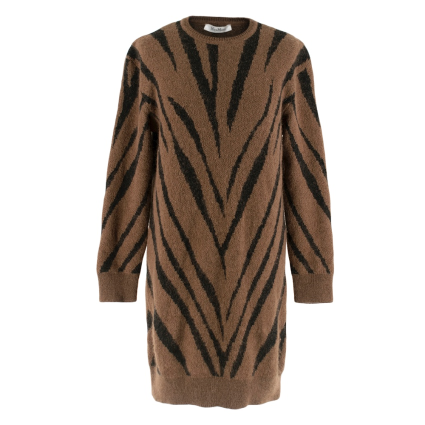 Max Mara oversized Animal-Print Mohair-Blend Sweater