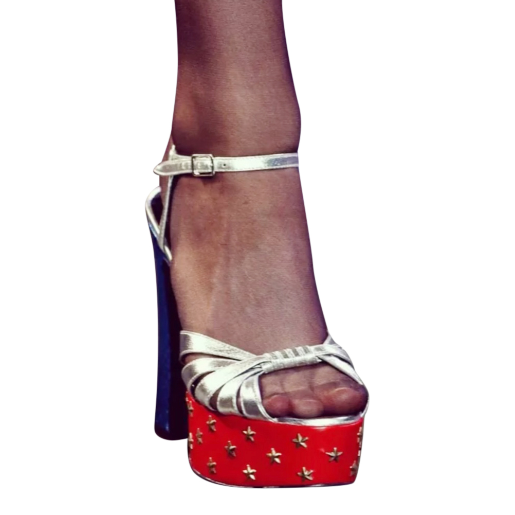 Saint Laurent Rare Runway Star Platform Sandals