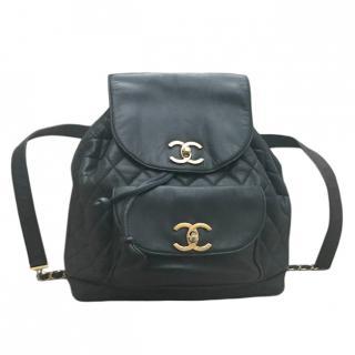 Chanel Black Lambskin Vintage Backpack