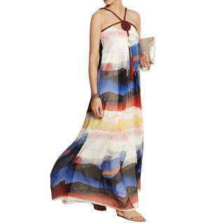 Diane Von Furstenberg Teddy Silk Chiffon Gown