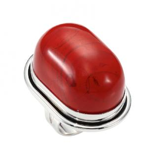Saint Laurent red jasper cabochon ring