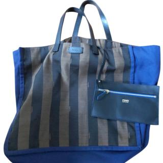 Fendi medium striped tote bag