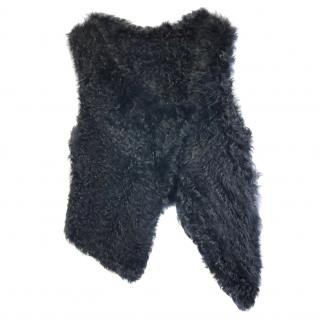 Yves Salomon curly sheepskin gilet
