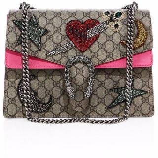 Gucci Supreme Sequin-Embroidered Pierced Heart Dionysus Bag