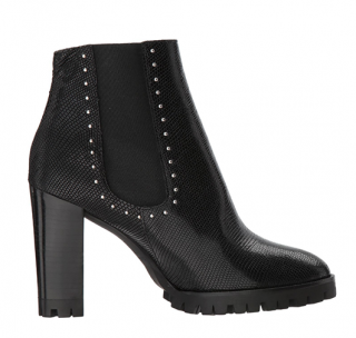 The Kooples Reptile-effect Leather Boots With Studs