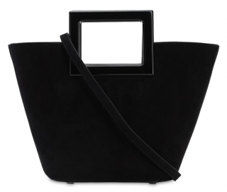 Marina Raphael Black Mini Riviera in Coal Suede