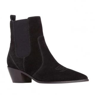 Paige Willa Boots in Black Suede