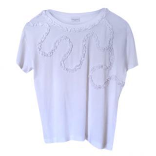 Dries Van Noten Ruffle Front T-Shirt