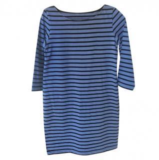 Ganni Blue Striped Old Spice Jersey Dress