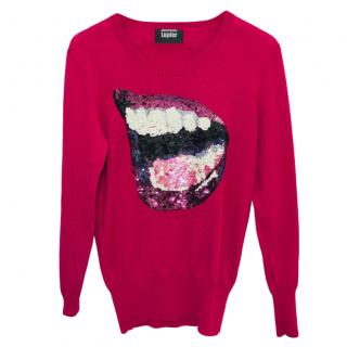Markus Lupfer Merino Wool Laughing Lips Jumper