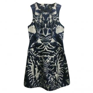 McQ by Alexander McQueen Denim Tie Dye Sleeveless Dress