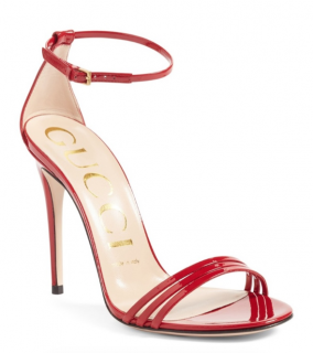 Gucci Ilse Red Patent Sandals