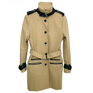 The Kooples wool blend camel coat